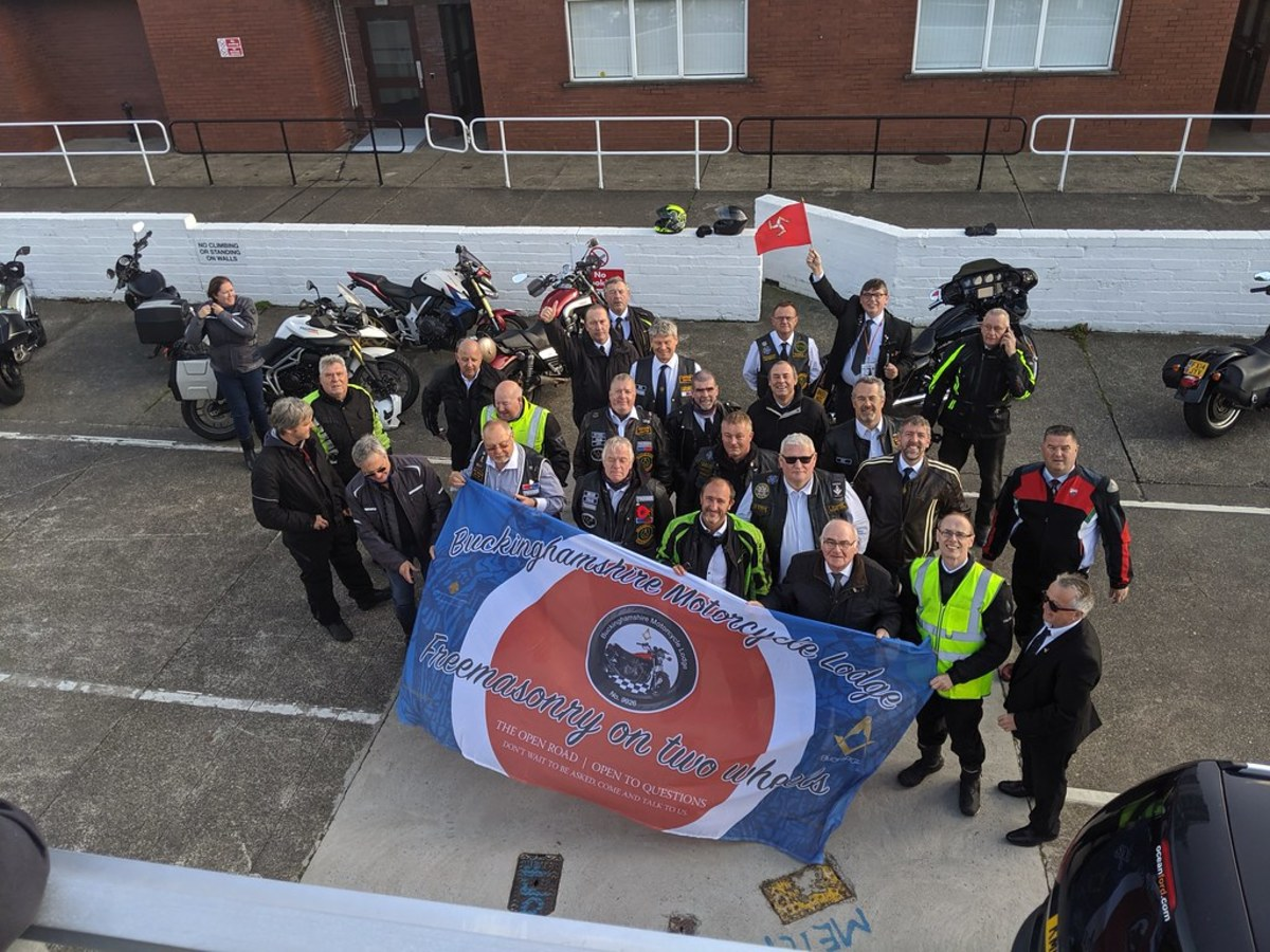 Bucks Motorcycle Lodge visits Isle of Man